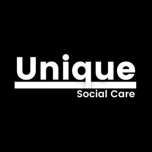 Unique Social Care Logo In Black and White